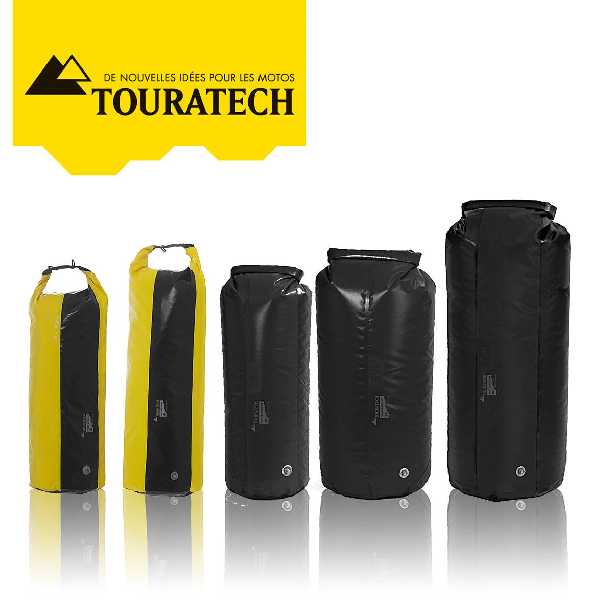 Sacs polochon PD350 à fermeture enroulable Jaune/Noir ou Noir - de 35 à 109 litres