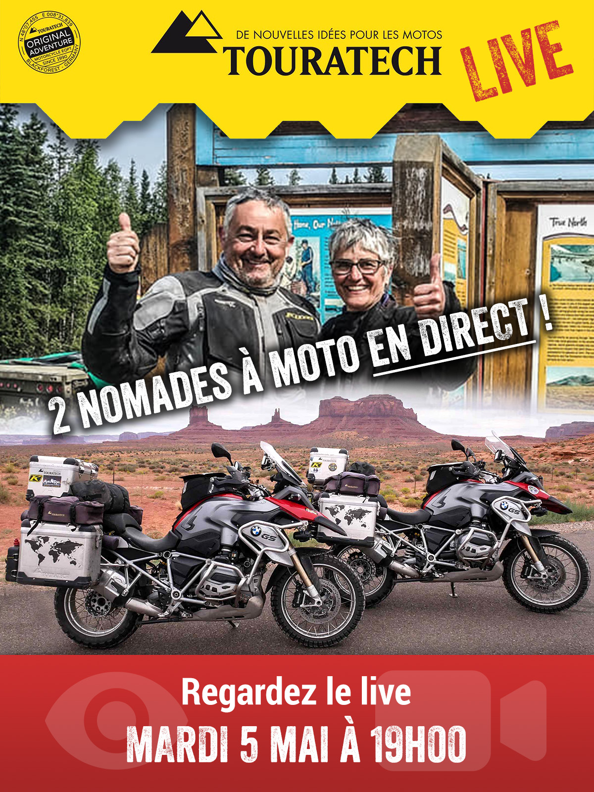 Touratech France Live 2 Nomades à Moto