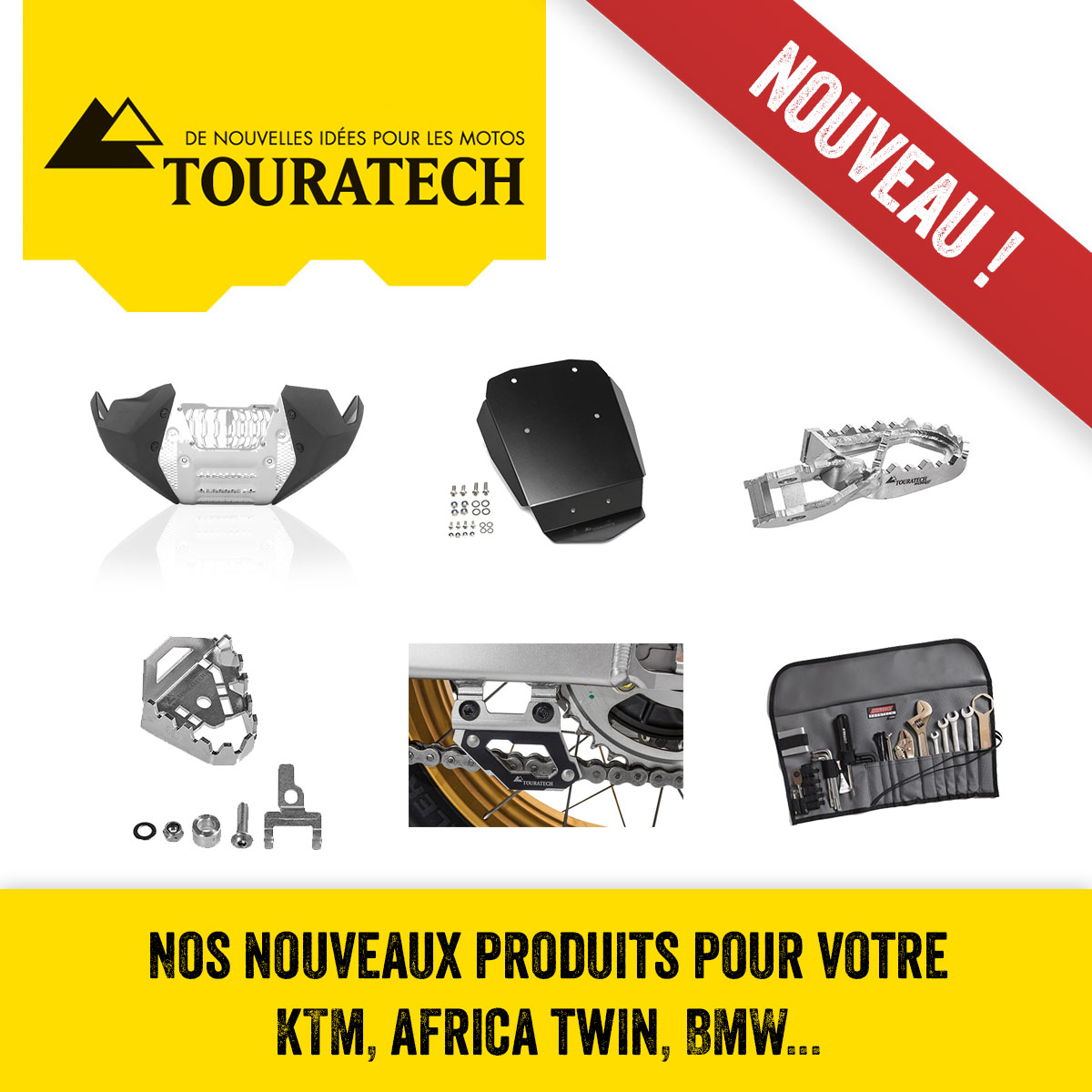 Touratech : Nouveaux Produits Pour Votre KTM, AFRICA TWIN, BMW...