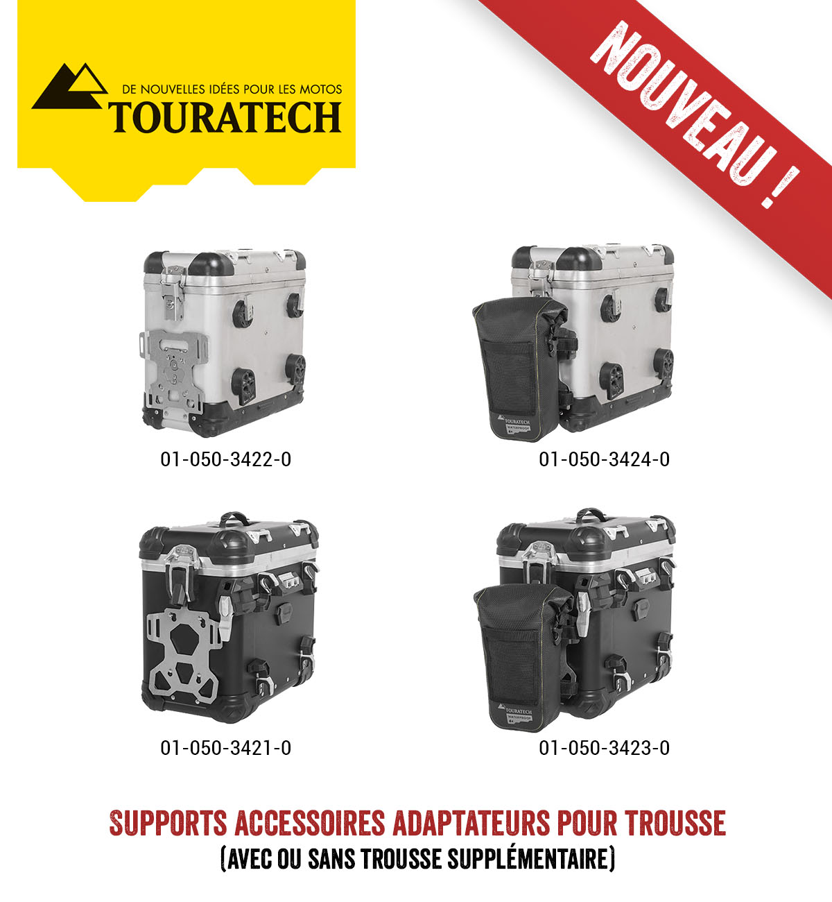 Touratech supports accessoires ZEGA