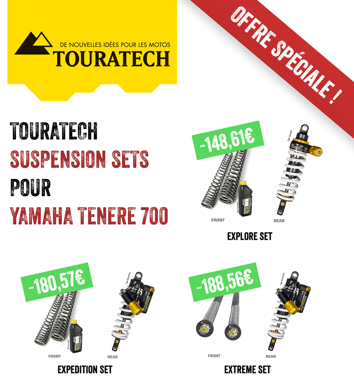 Suspension Sets Pour Yamaha Tenere 700