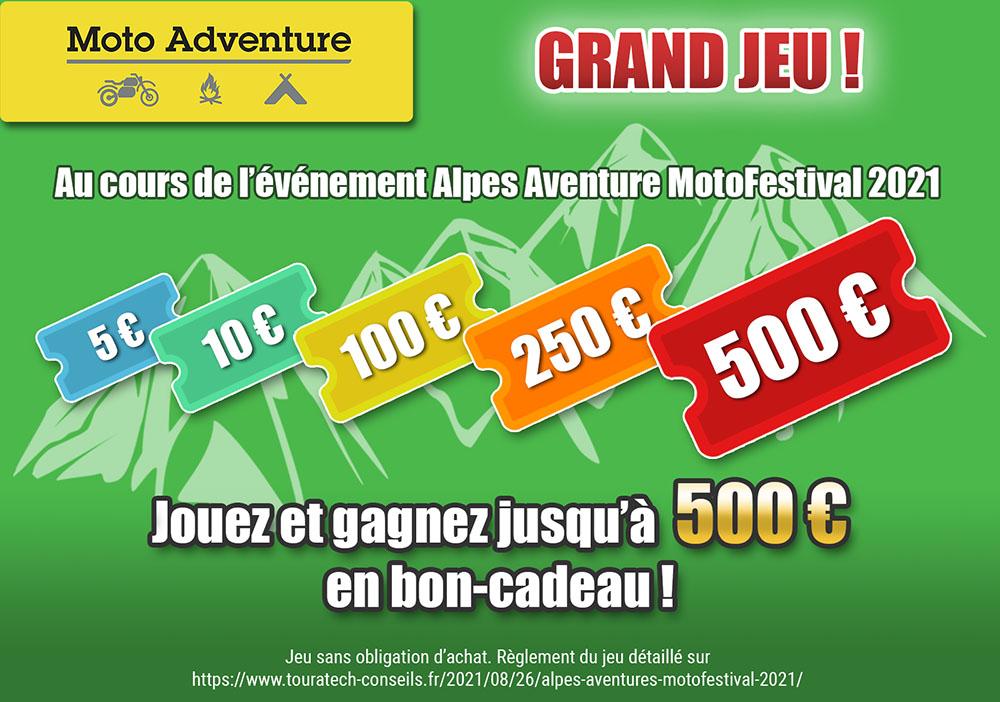 Jeu Alpes Aventure MotoFestival 2021